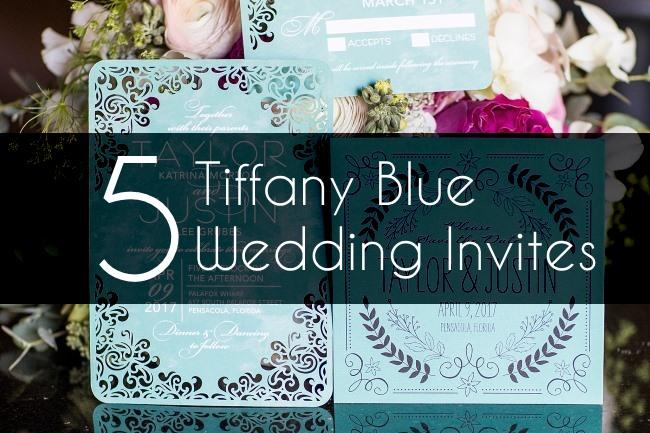 5 Tiffany Blue Wedding Invitations To Make Holly Golightly Beam