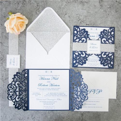 6 Luxurious Laser Cut Wedding Invitation Designs