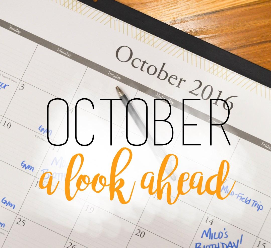 Calendar of October