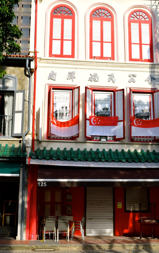 love and noodles in Telok Ayer neighborhood Singapore shophouse Asia Singapore flag Telok Ayer street