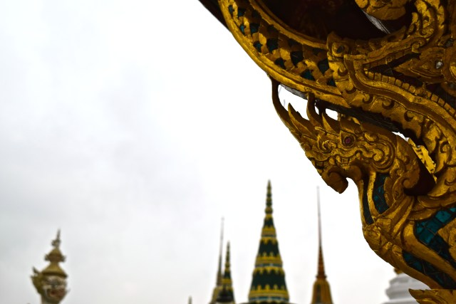 love and noodles at Grand Palace Bangkok Thailand gold temples wat