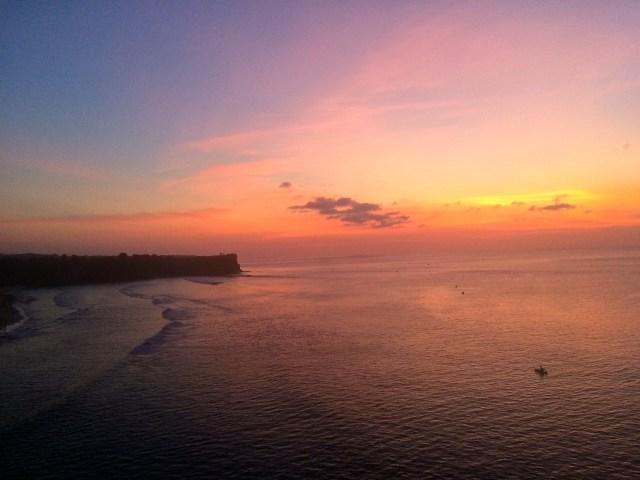 Bali Indonesia best sunset Balangan Beach surfers paradise