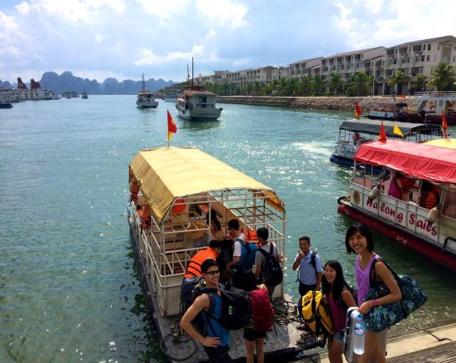 ha long bay vietnam boarding boat