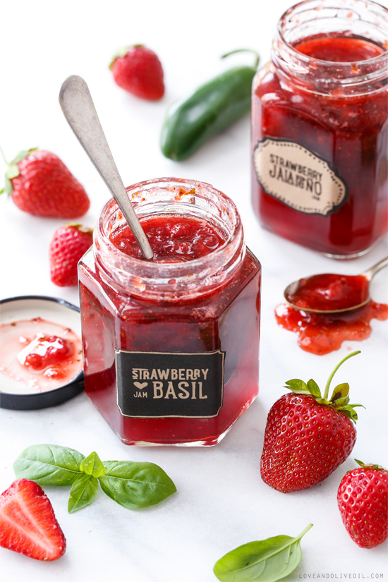 Love and Olive Oil's Strawberry and Basil Jam