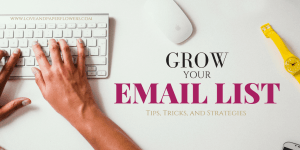Learn how you can grow your email list fast using these tips, tricks, and strategies. These tips and strategies were instrumental in helping me grow my email list fast, going from 20 subscribers to nearly 800 in 3.5 months.