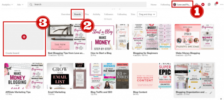 how to create a pinterest board for bloggers