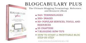 "Blogcabulary Plus is the Ultimate Blogging Terminology, Reference, and Resource Book. Containing 340+ Blogging Terminologies.. 200+ Images.. 50+ Best Blogging Resources, Tools, and Services.. 7 Important Blogging ""How-To's"" (including ""How to Start a Profitable Blog Step-by-Step"".Blogcabulary Plus is the book you need!"