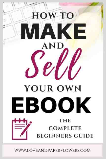 How to write and ebook and make money.