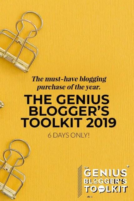 The Genius Blogger's Toolkit 2019TGBTK2019