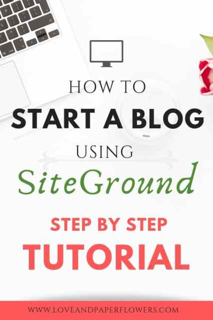 "Starting a blog can feel overwhelming. But with this ""Start a Blog Tutorial"" I will walk you step-by-step how to start a blog using SiteGround, Install WordPress, and select the best theme for your new blog. #startablog #blogging #bloggingtutorial #howtoblog #startablodguide #startablogtutorial #bloggingforbeginners"