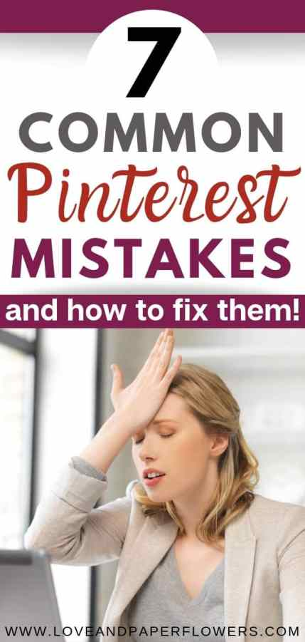 Common Pinterest Mistakes as how to prevent them