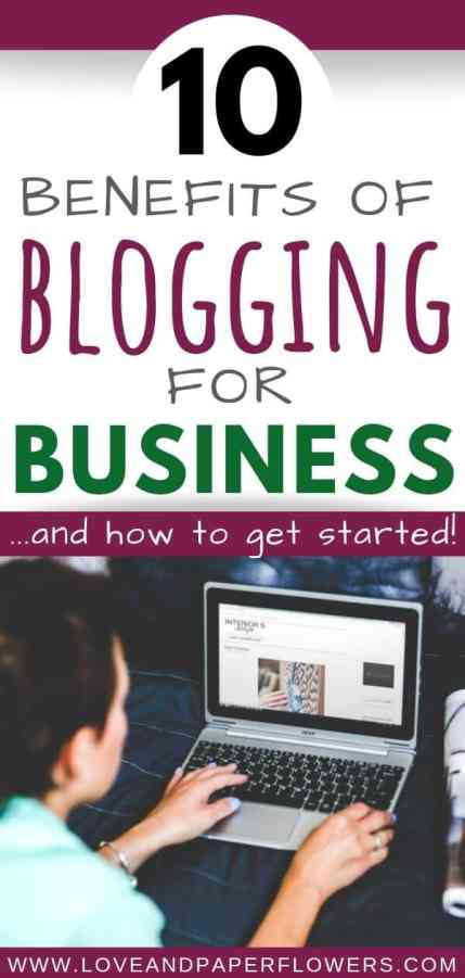 benefits of blogging for business