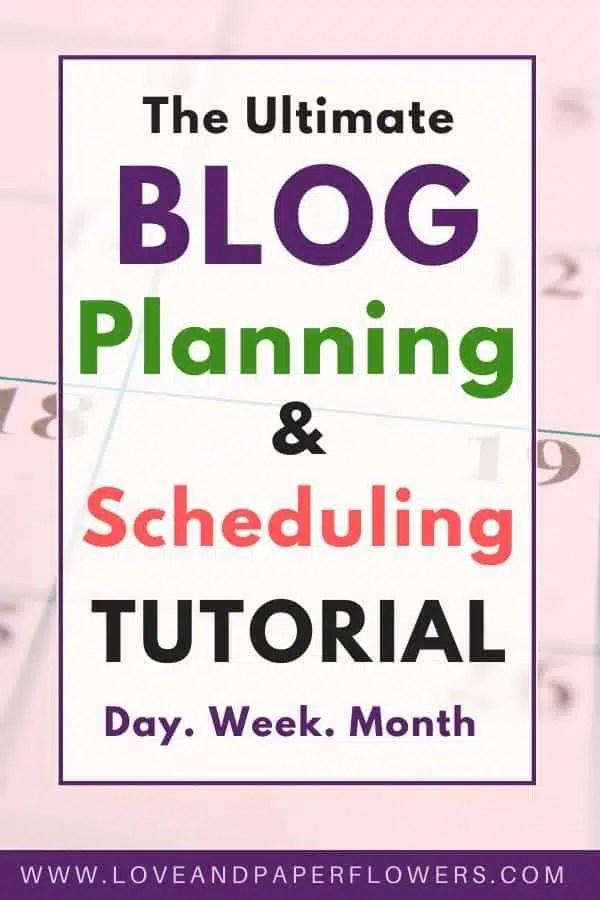 blog schedule and blog plan tutorial