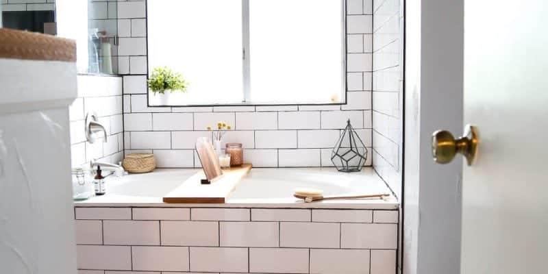 our diy budget bathroom renovation // love & renovations