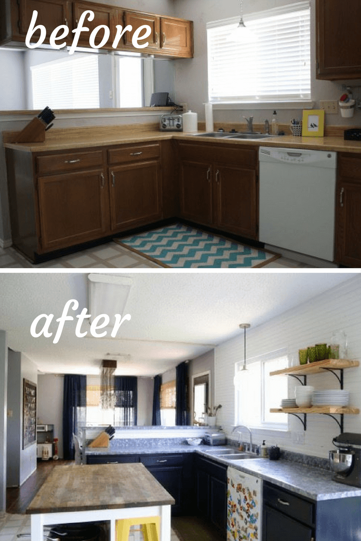 Our Kitchen Before & After Photos - A Look Back // Love ... on Small:xmqi70Klvwi= Kitchen Renovation Ideas  id=72496