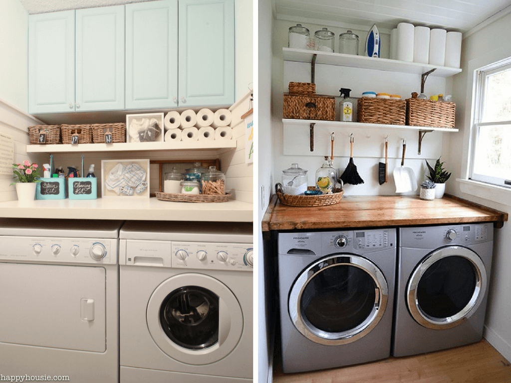 12 Inspiring Small Laundry Room Ideas - Love & Renovations on Laundry Decorating Ideas  id=70440