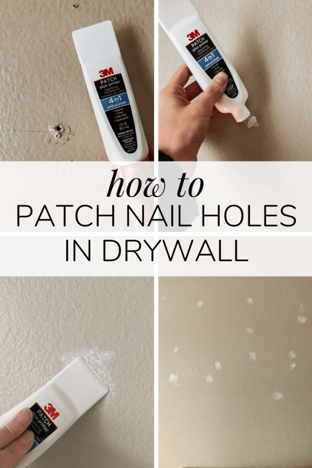 How to Patch Nail & Screw Holes In Your Walls – Love & Renovations