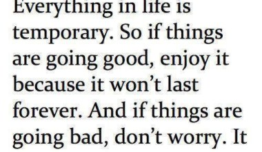 Everything In Life Is Temporary