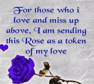 For Those Who I Love And Miss Up Above