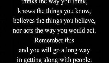 Not Everyone Thinks The Way You Think
