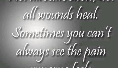 Sometimes You Can't Always See The pain Someone Feels