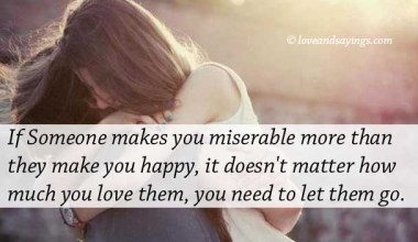 If Someone Makes you Miserable