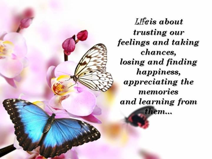 Life Is About Trusting Our Feelings And taking Chances