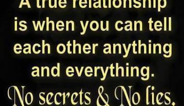 No Secrets And No Lies