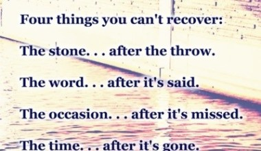 Four Things You Can't Recover