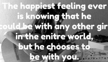 Happiest Feeling ever