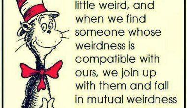 We Are All A Little Weird ...