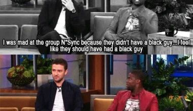 Justin's hilarious response when told N'Sync needed a black guy...