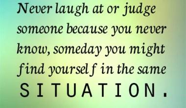 Judge Someone