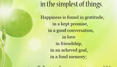 Happiness Is found In the Simplest Of Things