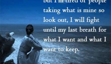 I Will Fight Untile My Last Breath