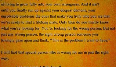 Special Person Who is Wrong For Me In Just The Right Way