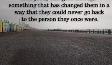 Everybody has gone through something that