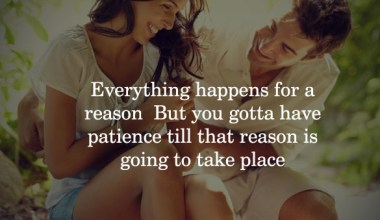 Everything happens for a reason, But