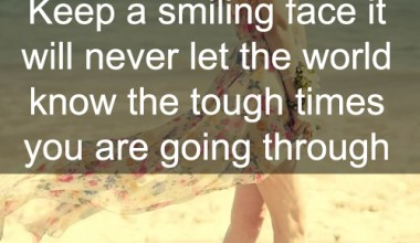Keep A Smilling Face