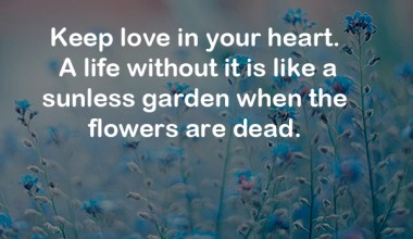 Keep Love In Your Heart. A Life Without It ...