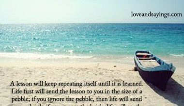 Life First Will Send The lesson To you