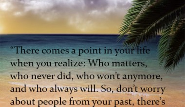 Don't Worry About The People From The Past