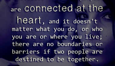 I Believe That Two People Are Connected At the Heart