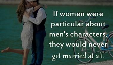 If Women were particular about men's