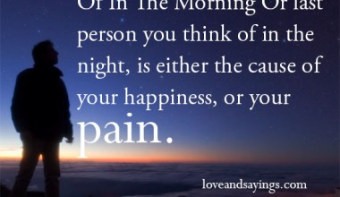 The Cause Of Your Happiness, Or Your Pain