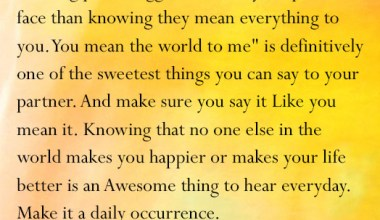 The Sweetest Things You Can Say To your Partner