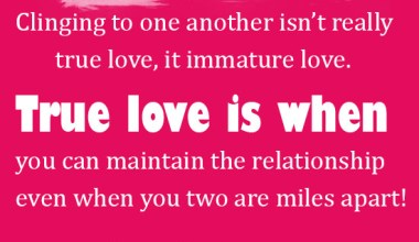 True love is when you can maintain