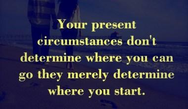 Your present Cirumstances