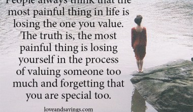 Forgetting that you are special too