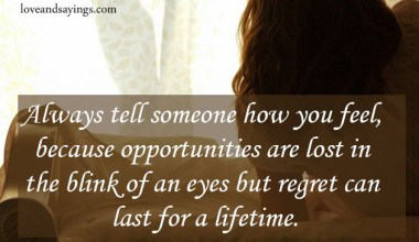 Regret Can Last For A Lifetime
